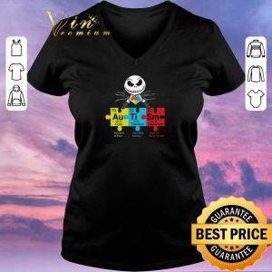 Original Jack Skellington Autism Awareness Gold Titanium Samarium shirt sweater