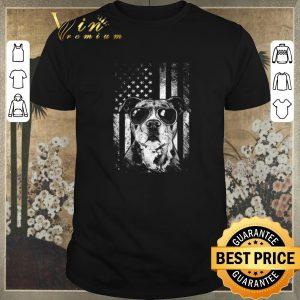 Pretty American flag Pitbull Sunglass shirt sweater