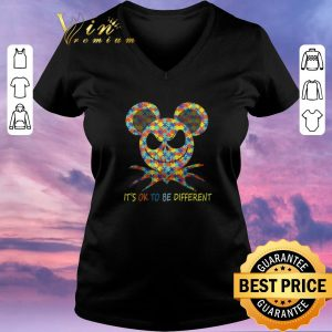 Pretty Jack Skellington Autism It's ok to be different shirt sweater
