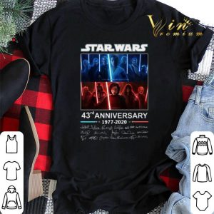 all autographed Characters Star Wars 43rd anniversary 1977 2020 shirt sweater