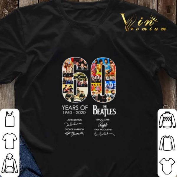 60 years of The Beatles 1960 2020 signatures autographed shirt sweater