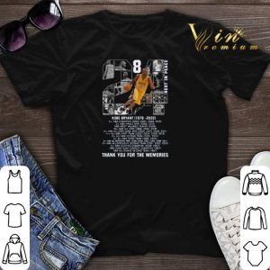 824 Kobe Bryant 1978-2020 thank you for the memories signature shirt sweater