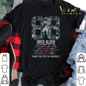 88 Greg Olsen Carolina Panthers Thank You For The Memories shirt sweater