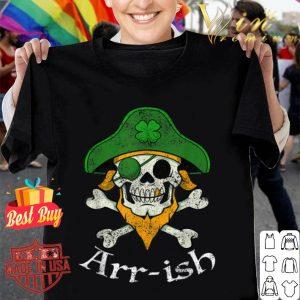 ARRish Funny Irish Pirate Clover Skull Cool St Patricks Day shirt