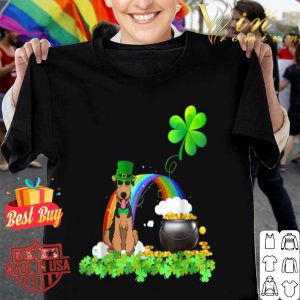Airedale Terrier St Patricks Day Leprechaun Dog shirt