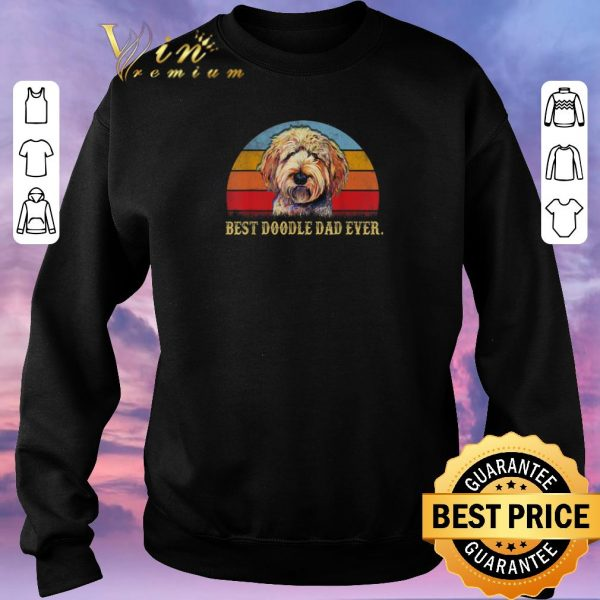 Awesome Best Doodle Dad Ever Vintage shirt sweater