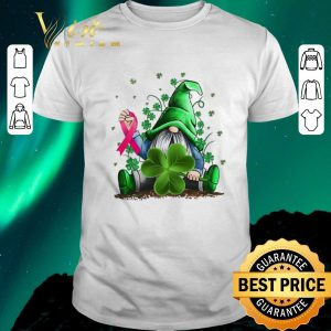 Awesome Gnome Shamrock Breast Cancer Awareness Irish St. Patrick's day shirt sweater