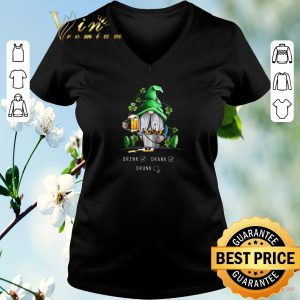 Awesome Gnome drink beer drank drunk St Patrick's day shirt sweater