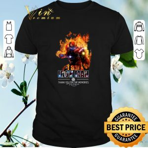 Awesome I am iron man thank you for the memories signature shirt sweater