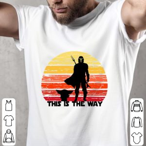 Awesome The Mandalorian this is the way sunset shirt 1