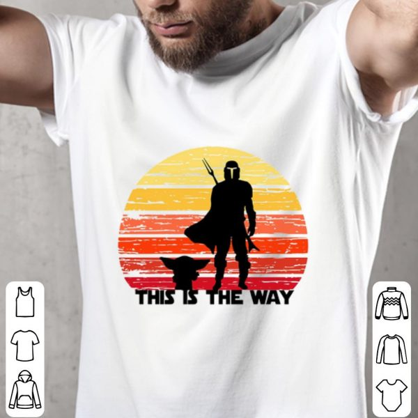 Awesome The Mandalorian this is the way sunset shirt