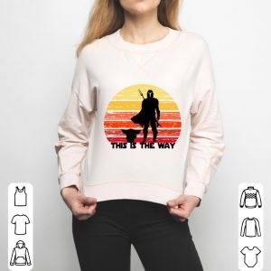 Awesome The Mandalorian this is the way sunset shirt 2