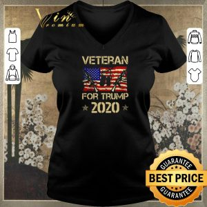 Awesome Veteran For Trump 2020 American flag shirt sweater