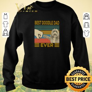 Awesome Vintage Best Doodle Dad Ever shirt sweater 2