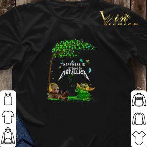 Baby Groot Baby Yoda happiness is listening to Metallica shirt sweater 2