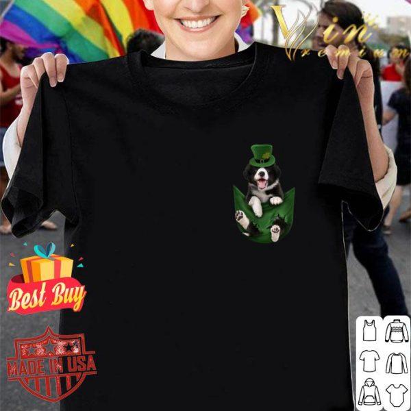 Border Collie In Your Pocket St Patricks Day Dog Lover Gift shirt