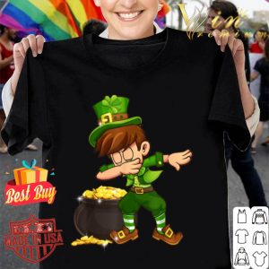 Dabbing Boys Leprechaun St Patricks Day Shamrock Gift Kids shirt