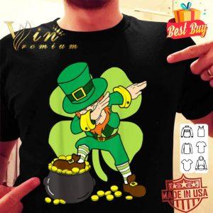 Dabbing Leprechaun Funny St Patricks Day Boys Dab Gift shirt