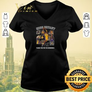 Funny 24 Kobe Bryant signature 1978-2020 thank you for the memories shirt sweater