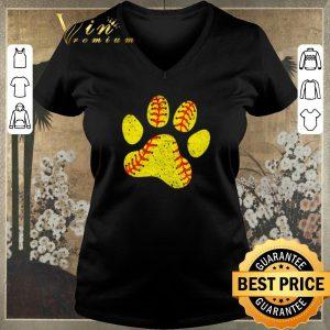 Hot Softball lovers paw dog shirt sweater