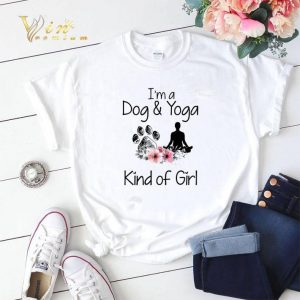 I'm a Dog and Yoga Kind Of Girl flowers shirt sweater