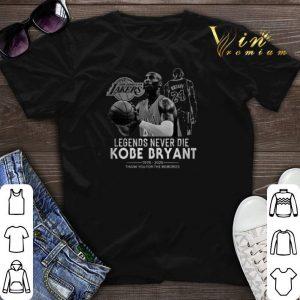 Legends never die Kobe Bryant R.I.P 1978-2020 thank for memories shirt sweater