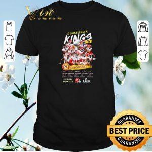 Nice Comeback Kings Kansas City Chiefs Kingdom Super Bowl IV Signed shirt sweater