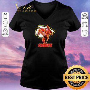 Nice The Flash DC mashup Kansas City Chiefs Logo shirt sweater