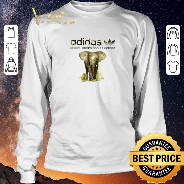 Nice addicted adidas all day I dream about Elephant shirt sweater