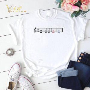 Note Music Teacher Red Fifth Blue Fifth shirt sweater