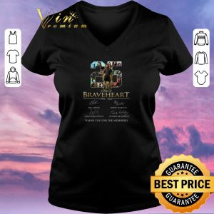 Official 25 years of Braveheart signatures thank you for the memories shirt sweater