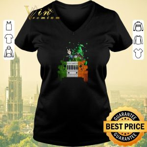 Original Gnome Driving Jeep car St. Patrick's Day shirt sweater