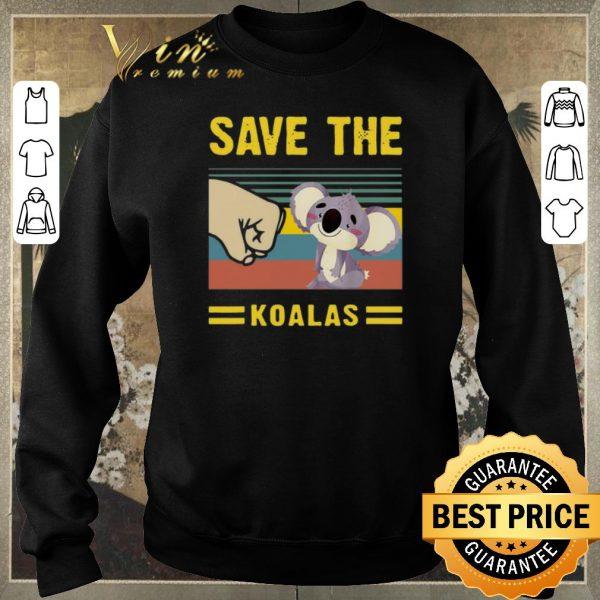 Original Save the Koalas Vintage Save the Earth Bushfires in Australia shirt sweater