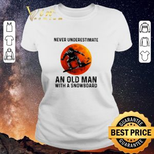 Original Sunset Never underestimate an old man with a snowboarding sports shirt sweater