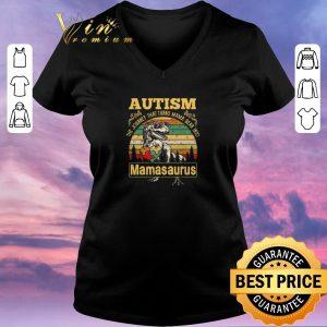 Premium Autism The Journey That Turns Mama Bear Into Mamasaurus Vintage shirt sweater