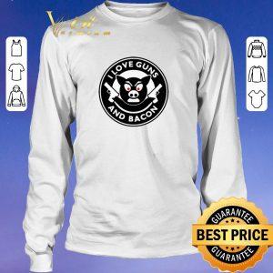 Premium I love guns and bacon pig shirt sweater 2