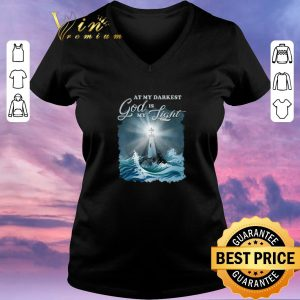 Top At my darkest god is my lighthouse Jesus Christian shirt sweater