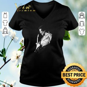Top Jimi Hendrix playing guitarist shirt sweater