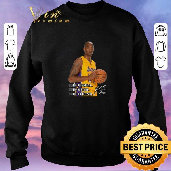 Top RIP Kobe Bryant The Mamba The Myth The Legend Signature shirt sweater