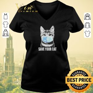 Top Save your cat coronavirus shirt sweater