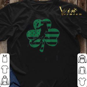 Vintage US Flag Shamrock Lacrosse St Patrick's Day shirt sweater 2