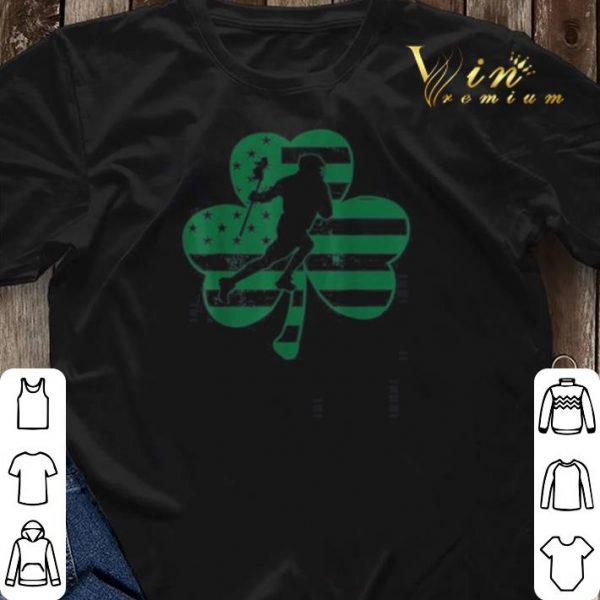 Vintage US Flag Shamrock Lacrosse St Patrick's Day shirt sweater