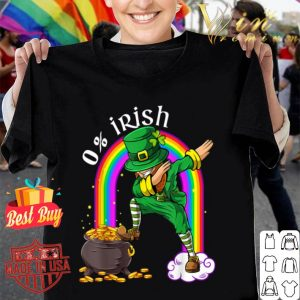 0% Irish Leprechaun Dab Rainbow Funny Saint Patrick's Day T-shirt