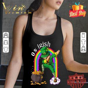 0% Irish Leprechaun Dab Rainbow Funny Saint Patrick's Day T-shirt