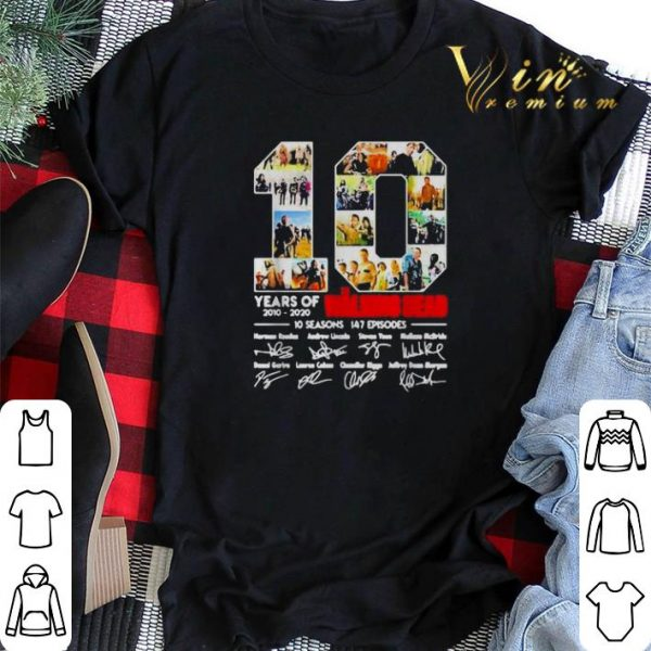 10 Years of the Walking Dead 2010 2020 10 seasons signatures shirt sweater