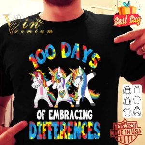 100 Days Of Embracing Different Unicorn Autism Awareness shirt