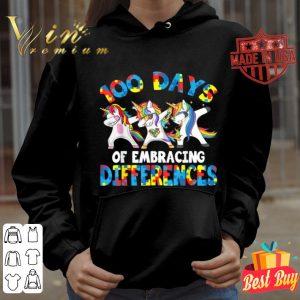 100 Days Of Embracing Different Unicorn Autism Awareness shirt