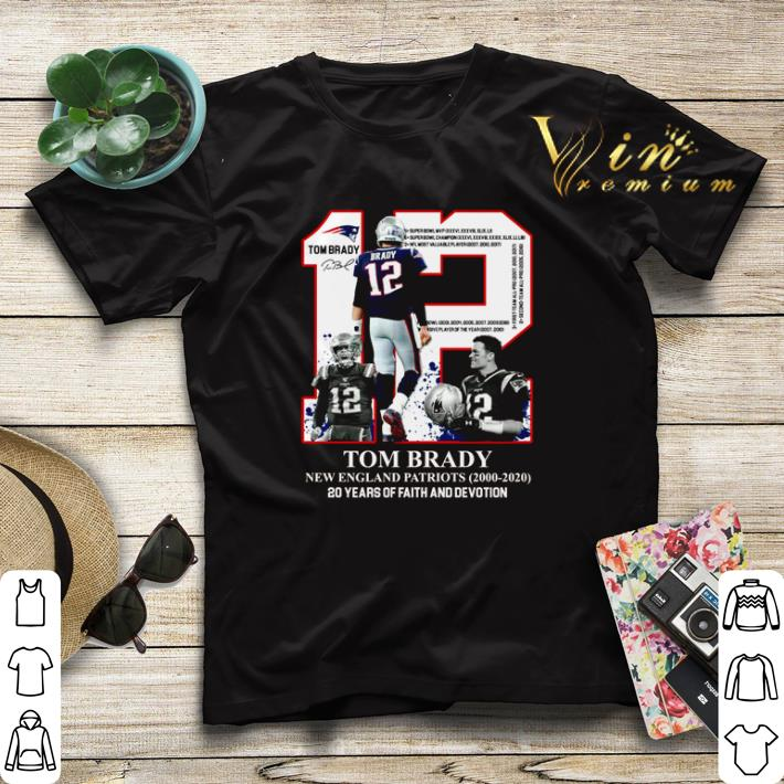 12 Tom Brady New England Patriots 20 years of faith and devotion shirt sweater 4 - 12 Tom Brady New England Patriots 20 years of faith and devotion shirt sweater