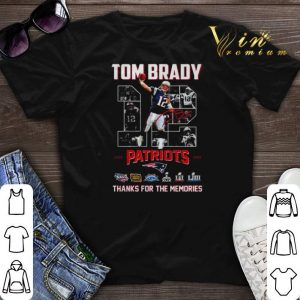 12 Tom Brady signature Patriots thank you for the memories shirt sweater
