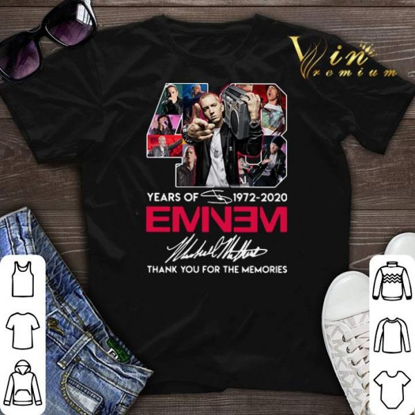 48 years of 1972 2020 Eminem signature thank you for the memories shirt sweater